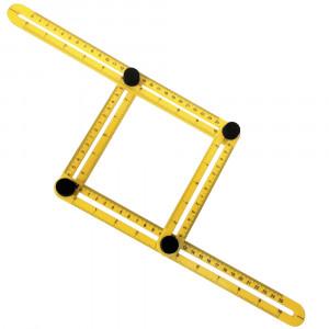 Esquadro Ajustável Plástico Multiângulos com 4 Réguas • LT2408